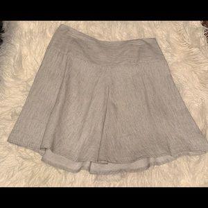 Cabi linen blend A Line swing skirt size 8